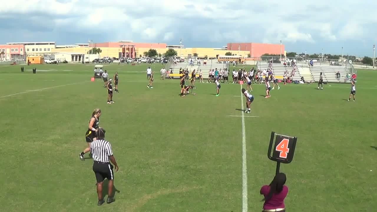Girls Varsity Flag Football Treasure Coast High School Port St