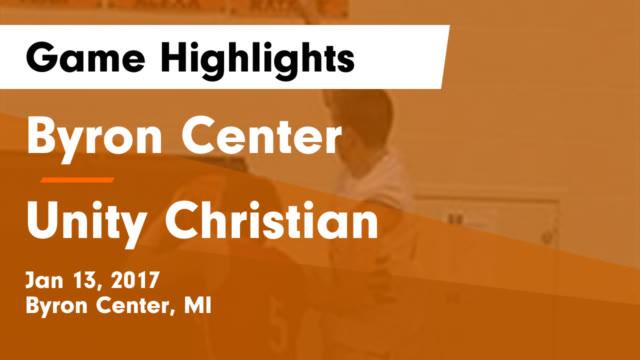 Byron Center vs Unity Christian Game Highlights - Feb 10, 2017